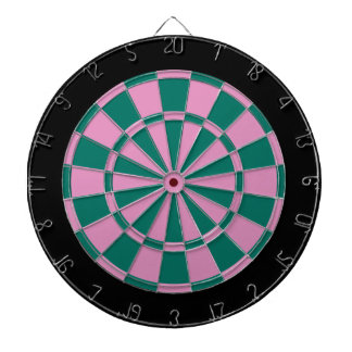 Dart Board: Pink, Green, And Black Dartboard