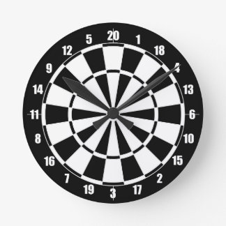 Dart Board Round Clock