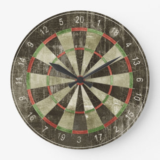 Dart board wall clock