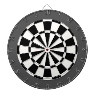 Dart Board: White, Black, And Charcoal Gray Dartboard