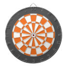 Dart Board: White, Orange, And Charcoal Grey Dartboard