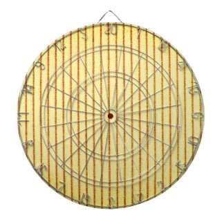 Dart-Board_Wood*-Grain-Mattress_Ticking(c) Cream Dartboard