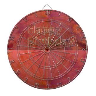 DART Chakra 101- Happy Birthday in Gold Engraved Dart Boards