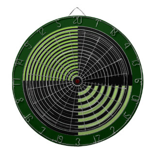 DART Chakra 109 Basket Weave Green n Black Dart Board