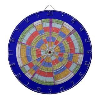 DART Chakra 115 Satin Silk Red Blue Golden Chequer Dart Board