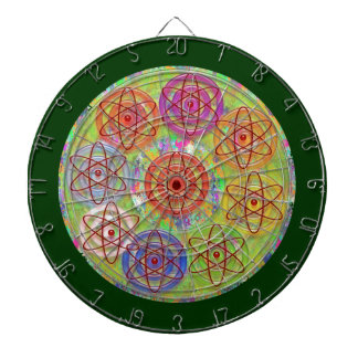 DART Chakra 11 Engrave Electron Atom Cosmic Waves Dartboard With Darts