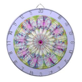DART Chakra 124 Multiple - Floral n Purple Stars Dartboard
