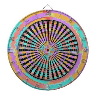 DART Chakra - Black n Blue Wheels Fan Screen Dartboard With Darts