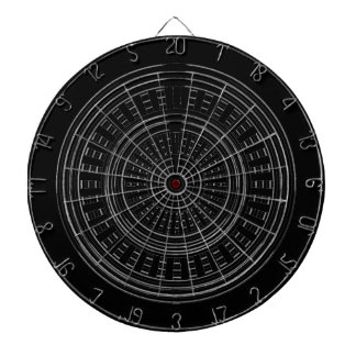 DART Chakra - Black n Silver Wheels Rough Tough Dartboard