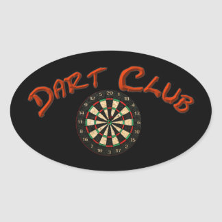 Dart Club Logo Oval Sticker