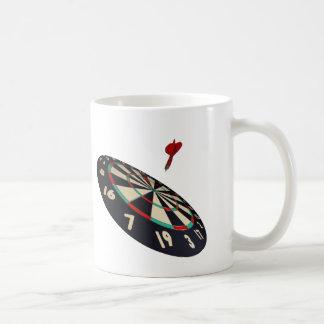Dart In Flight To Bullseye, Coffee Mug