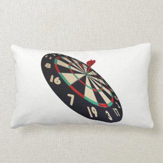 Dart On Target Bullseye, White Lumbar Cushion. Lumbar Pillow