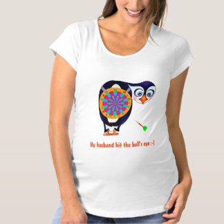 Dart Penguin by The Happy Juul Company Maternity T-Shirt