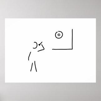 dart player target throw arrow poster