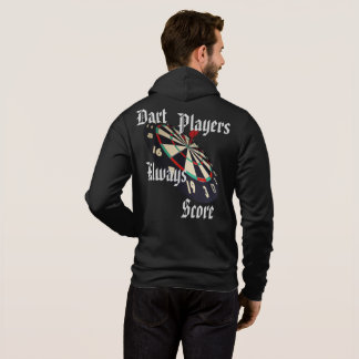 Dart Players Always Score Logo And Dartboard, Hoodie