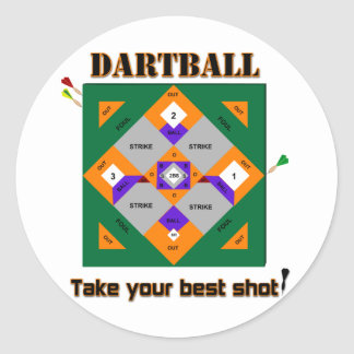Dartball Classic Round Sticker