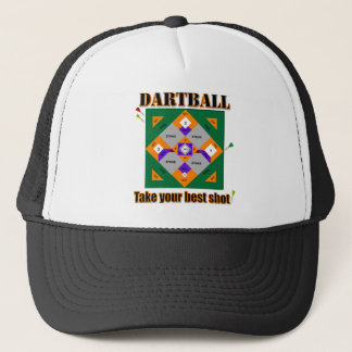 Dartball take your best shot! trucker hat