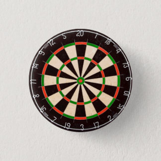 Dartboard 1 Inch Round Button