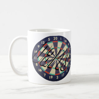 Dartboard And Darts Logo, Coffee Mug