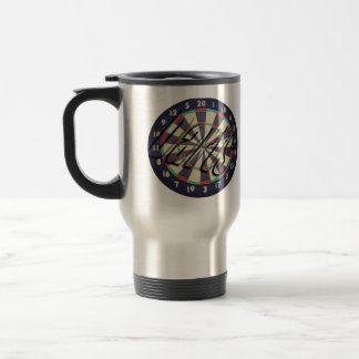 Dartboard And Darts Logo, Travel Mug
