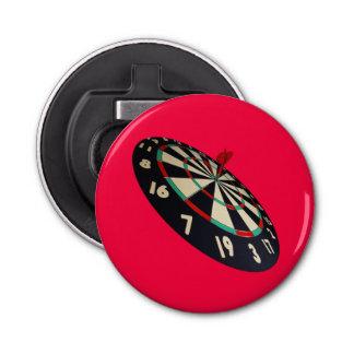 Dartboard Bullseye, Pink Magnetic Bottle Opener. Bottle Opener