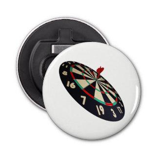 Dartboard Bullseye, White Magnetic Bottle Opener. Bottle Opener