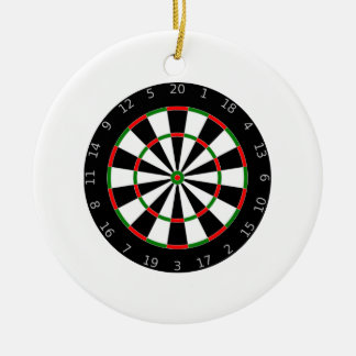 Dartboard Ceramic Ornament