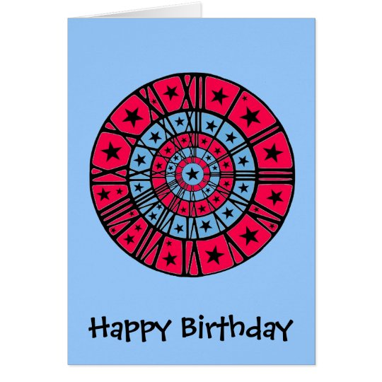 Dartboard Clock Card