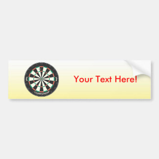 Dartboard & Darts: 3D Model: Bumper Sticker