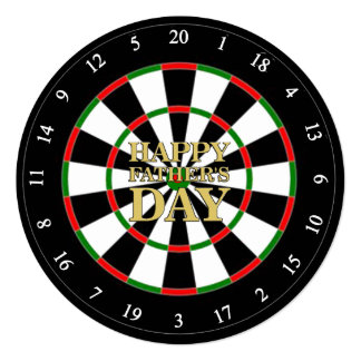 Dartboard Father's Day Party Invitations