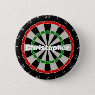 Dartboard Just Add Name 2 Inch Round Button