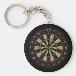 Dartboard Key-Chain Basic Round Button Keychain