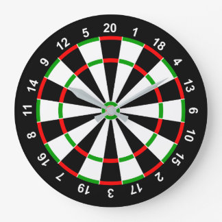 Dartboard Large Clock