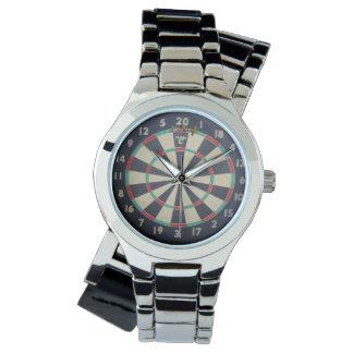 Dartboard_Triple_Twenty_Ladies_Silver_Wrap_Watch Wrist Watches