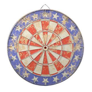 Dartboard USA Flag old cracked