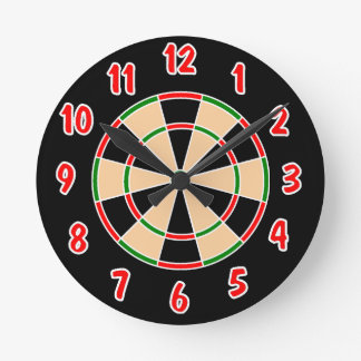 Dartboard Wall Clock. Round Clock