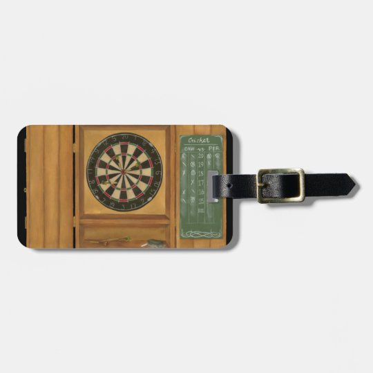 Dartboard with Cricket Scoring Bag Tag