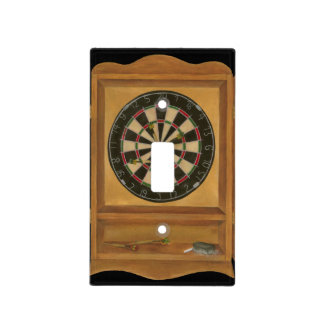 Dartboard with Cricket Scoring Light Switch Cover
