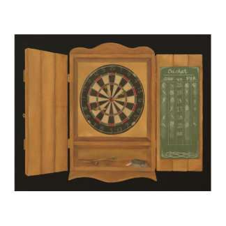 Dartboard with Cricket Scoring Wood Wall Art