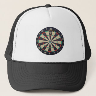 Dartboard With Darts In The Triple Twenty, Trucker Hat