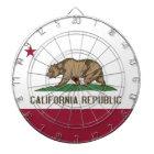 Dartboard with Flag of California, USA