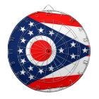 Dartboard with Flag of Ohio, USA