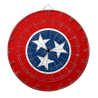 Dartboard with Flag of Tennessee, USA