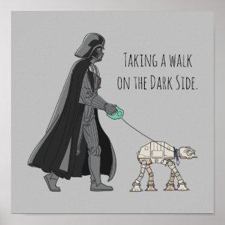 Darth Vader Walking Pet AT-AT Poster