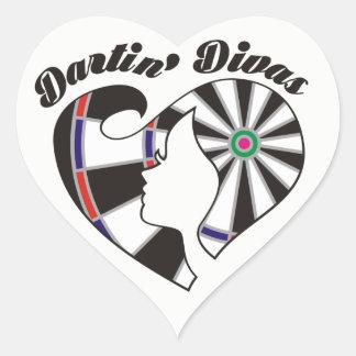 Dartin' Divas Darts Team Heart Sticker