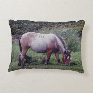 Dartmoor Pony Grazing Autumn Accent Pillow