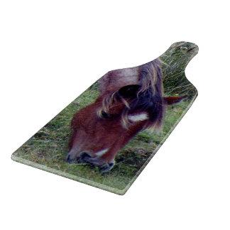 Dartmoor Pony Grazing Autumn Cutting Board