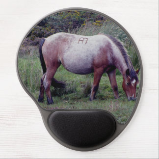 Dartmoor Pony Grazing Early Autumn Gel Mouse Pad