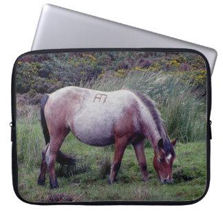 Dartmoor Pony Grazing Early Autumn Laptop Computer Sleeves