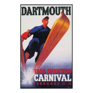 Dartmouth Winter Carnival Reproduction Poster